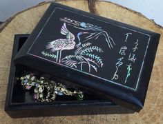 A personal favorite from my Etsy shop https://www.etsy.com/listing/251909456/vintage-lacquerware-trinket-jewelry-box