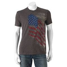 American made. Honor the USA in cool style with this men's t-shirt by Apt. American Made, American Flag, Cool Style, Size Chart, Graphic Tees, Short Sleeves, Mens Tops, Box Store, Clothes