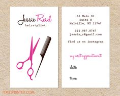 Hairstylist or hair salon business cards color both sides free business card appointment card colourmoves