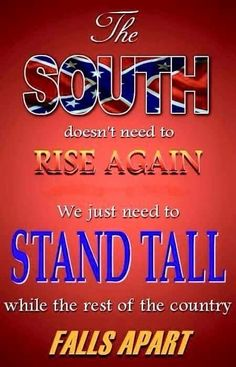 """And Southern people of all """"races"""" and ethnic backgrounds need to stand tall together."""