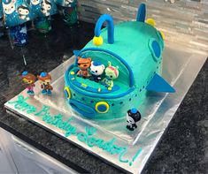 My daughter loves Octonauts so I gave my best shot at making one of their vehicles (the Gup A) into a cake for her birthday party today. #baking #cooking #food #recipes #cake #desserts #win #cookies #recipe #cakes #cupcakes