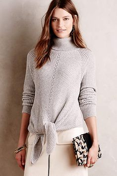 Tie-Front Turtleneck - by moth anthropologie.com