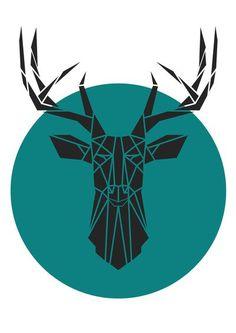 geometric animal head drawing - Google Search