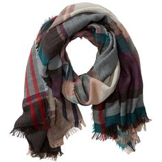 Tyson Stripes & Plaid Scarf ($59) ❤ liked on Polyvore featuring accessories, scarves, teal plaid, striped shawl, patterned scarves, striped scarves, tartan plaid shawl and teal scarves