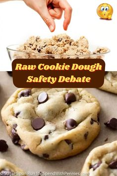#Raw #Cookie #Dough #Safety #Debate Raw Cookie Dough, Viera, Acrylic Nail Designs, Pasta Recipes, Oreo, Valentine Gifts, Healthy Snacks, Homemade, Russian Dogs