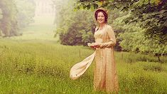 """""""I know that is Rosings Park in the background but this is how I imagine how she spent her days at Pemberley after she married Darcy."""" -- AWWW! Yes."""