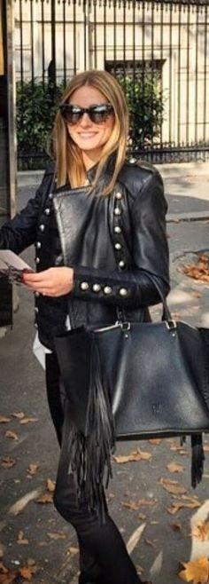 Olivia Palermo: Jacket – Boda  Purse – CH Carolina Herrera