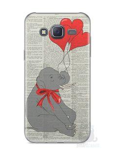 Capa Samsung J5 Elefante e Corações - SmartCases - Acessórios para celulares e tablets :)