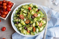 Creamy Cucumber Olive Salad Recipe