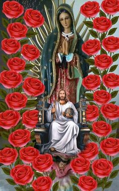 Blessed Mother Mary, Blessed Virgin Mary, Christ The Good Shepherd, Royal Wallpaper, Jesus Photo, Love Heart Images, Cross Pictures, Pictures Of Jesus Christ, Jesus Painting