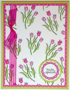 DeNami Special Spring Tulips card by @Christy Pratt