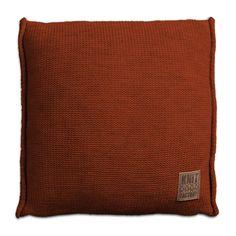 Pillow 50x50 - Uni VZ terra by Knit Factory www.knitfactory.nl