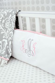 New Arrivals Inc Stella Gray 2-Piece Crib Bedding Set