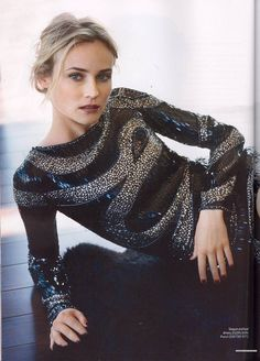 """Diane Kruger in a photo shoot for """"Instyle"""" magazine sept Diane Kruger, Trends 2018, High Fashion Dresses, Instyle Magazine, Glamour, Classy Women, Emilio Pucci, Jackson, Fashion Photography"""