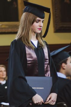 Emma w/ her Diploma - Brown University Graduation - 25 May 2014