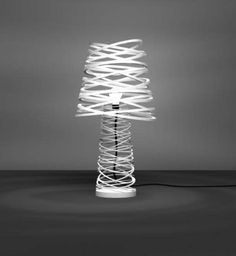 "Russian born designer Dima Loginoff created the Amourette Lamp and the Curl my Light Lamp. He even won second prize for his "" Curl My Light "" table lamp Cool Table Lamps, Table Lamps For Bedroom, Buffet Lamps, Cool Lighting, Modern Lighting, Outdoor Lighting, Unique Lamps, Decoration, Lights"