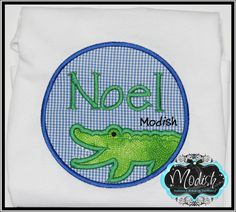 Alligator Boy patch Custom Personalized  Applique by SoModish.