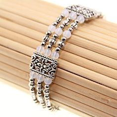 @Overstock.com - Tibetan Silver White Jade Bangle (China) - Accessorize your favorite outfits with this white jade bangle. Crafted of lovely Tibetan silver, this bracelet is set with milky white jade stones that will complement any ensemble. A lobster claw clasp ensures your bracelet is secure.   http://www.overstock.com/Worldstock-Fair-Trade/Tibetan-Silver-White-Jade-Bangle-China/7110097/product.html?CID=214117 $17.09