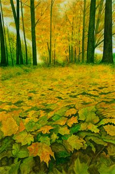 Invitation for an Autumn Walk, Water Color