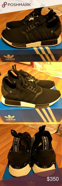 NEW ADIDAS NMD R1 PRIMEKNIT JAPANESE BOOST SIZE 10 Rare colorway for adidas men NMD, sold out everywhere!  Size 10  Deadstock.  100% authentic.  Will be shipped with original box and protection box.  No trades.  Price is firm.  No returns for incorrect size, size is as described in description  Check out my account for more shoes and sizes!  Tags:Adidas, Jordan, Nike, retro, boost, Yeezy, ultra boost, prime knit, supreme, make up, contacts Adidas Shoes