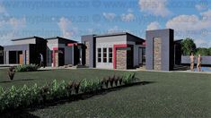 4 Bedroom House Plan – My Building Plans South Africa My Building, Building Plans, Architect Fees, Single Storey House Plans, 4 Bedroom House Plans, Construction Drawings, Bungalow House Design, House Roof, Guest Suite