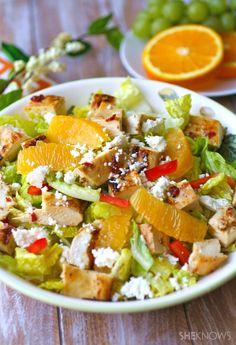 Love citrus & spice in my salad!  Sunday dinner: Grilled Chipotle-Orange Chicken Salad