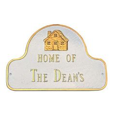 Montague Metal Products Home of Address Plaque Finish: Swedish Iron / Black, Mounting: Wall