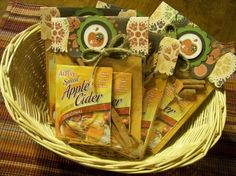 Apple Cider Packets Thanksgiving party favors.
