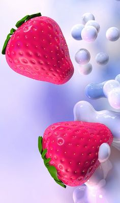 3d, 3D art, art, artists, background, beautiful, beauty, cinema4d, colorful, design, digital art, fruit, iphone, kawaii, pastel, pink, pretty, strawberry, sugar, wallpaper, wallpapers, we heart it, pink background, beautiful art, c4d, computer art, paste   cute, beautiful and pretty