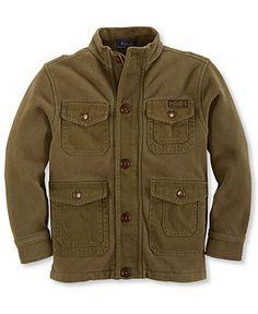 Ralph Lauren Little Boys' Sueded Fleece Bomber Jacket - Kids Jackets & Coats - Macy's