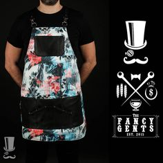 Fancy high quality printed-breathable apron exclusive designed for Bartenders and Mixologists. Cut from chest to mid-thigh, functional and very comfortable. Pockets are more than enough to help you through any situation. It gives you an amazing and outstanding style. Colour: Skull & Palm