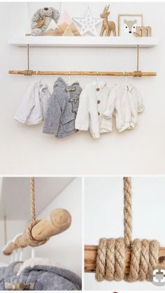 Shelf clothes rail for baby things in the nursery Just Like .- Regal Kleiderstange für Babysachen im Kinderzimmer Just Like Hannah Regal clothes rail for baby things in the nursery Just Like Hannah – – - Baby Bedroom, Baby Boy Rooms, Baby Room Decor, Nursery Room, Girl Nursery, Girl Room, Kids Bedroom, Bedroom Decor, Room Baby