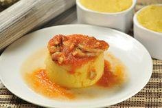 Polenta con salsa de champiñones | Cocina y Comparte | Recetas de @cocina al natural