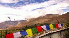 flags from Nepal Trek in Nepal around Annapurna episode 24