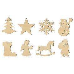 Holz Anhänger Weihnachten, 8er Set 100465