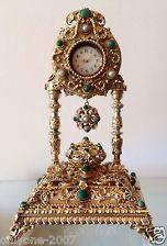Hermoso Antiguo Siglo Xix Exhibidor Para Reloj De Bolsillo De Plata Vermeil Rara!