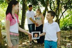 Família unida a espera s  Miguel um momento mágico eternizado ♡♡♡