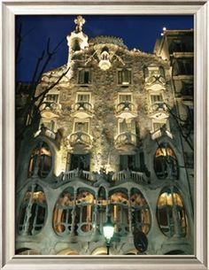 Exterior View of an Antoni Gaudi Building in Barcelona