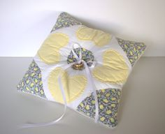 Rustic Ring Bearer Pillow Barn Wedding Yellow Ring Rustic Ring Bearers, Sweet Ring, Yellow Rings, Wedding Yellow, Rustic Pillows, Ring Pillows, Ring Pillow Wedding, Quilted Pillow, Vintage Shabby Chic