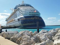 Disney Cruise Line, The Dream, docked at Castaway Cay.