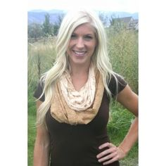 Gold Lace Infinity Scarf