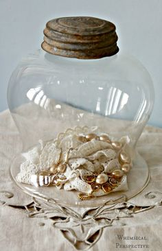 DIY Cloche Project with Ball jar lid
