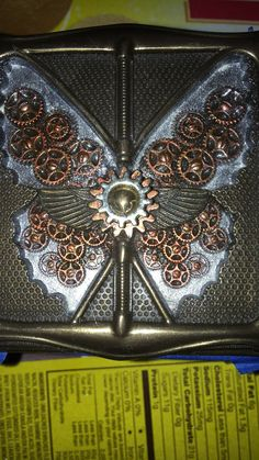 Altered Steampunk Butterfly Jewelry Box
