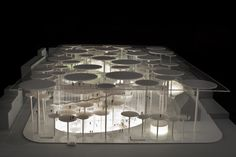 MUSEUM, MARIBOR, SLOVENIA – 2010 DESIGN TEAM: (Gianfranco Bombaci, Matteo Costanzo) with Andrea Branzi This project was designed to experiment with the possibilities of intermingling the activities of the new museum with the life . Model Architecture, Green Architecture, Landscape Architecture, Architecture Student, Pavilion Design, Arch Model, Facade Design, Modern Buildings, Mockup