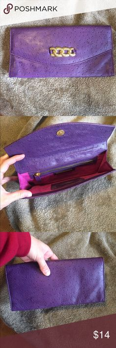 Clutch Cute leather clutch. In perfect condition! Jenny Bird Bags Clutches & Wristlets