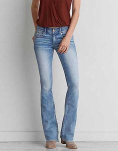 Bootcut short jeans