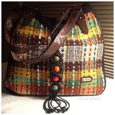 Vintage Boho Bag / Woven Peruvian Yarn.  Xmas present from my bestie! I have this same one but tan❤️