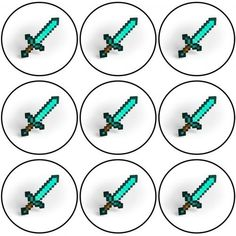 9 stk cupcake bilder. Bildene klippes eller skjæres ut og legges på cupcakene.Inneholder: potetstivelse, vann, olivenolje, fargestoffer: E102, E110, E122, E133, E151 (E102, E110, E122, E129 og E151Bildet er glutenfri og laktosfri og har ingen tilsatt sukker. Minecraft Cupcakes, Party, Fiesta Party, Parties, Ballerina Baby Showers