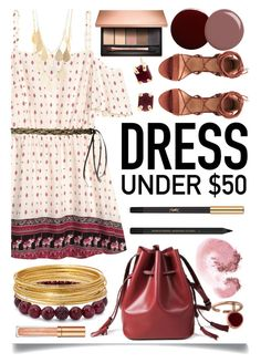 """""""Dress Under $50"""" by ittie-kittie ❤ liked on Polyvore featuring H&M, Yves Saint Laurent, Clarins, Palm Beach Jewelry, NARS Cosmetics, Bold Elements, Elizabeth Arden, Lauren B. Beauty, Gucci and Charlotte Russe"""