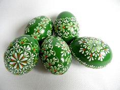 Ostereier - Set von 5 Handgemalte Farben verzierte Osterei - ein Designerstück von VeryAndVery bei DaWanda